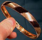 Vintage 10K GOLD BANGLE BRACELET c1970s