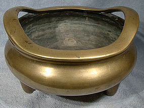 Late17th/Early 18thC XUANDE MARK BRASS CENSER