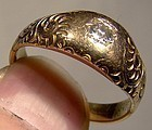 Victorian 14K DIAMOND RING c1890-1900