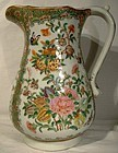 """QING DYNASTY 19thC ROSE CANTON 9"""" PITCHER"""