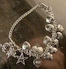STERLING CHARM BRACELET BETA EPSILON OMEGA SORORITY