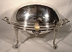Superb Victorian ROLLTOP BACON DISH or SERVER c1880