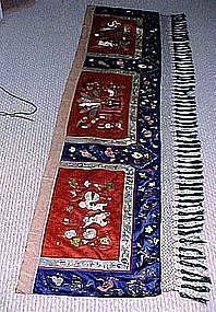 Vintage CHINESE EMBROIDERY SILK BED HANGING Xuantong