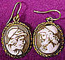 Early 19thC Neoclassic SHELL CAMEO EARRINGS